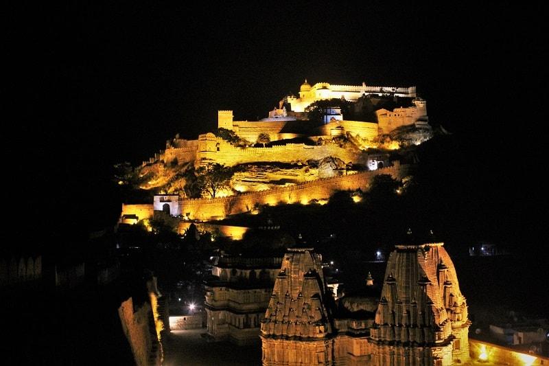 Amazing light and sound show Kumbhalgarh Fort Rajasthan