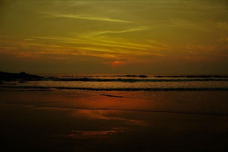 Amazing sunset view at Harihareshwar beach