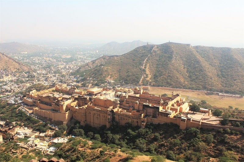 Amer fort from Jaigarh Fort Jaipur