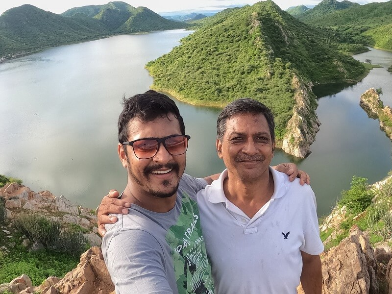 Bahubali Hill with Dad