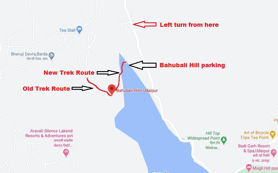 Bahubali Trek route