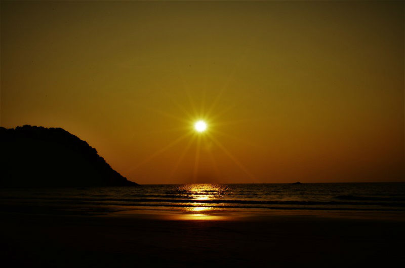 Beautiful sunset at Gokarna Karnataka