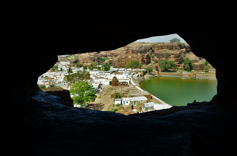 Beautiful view from Badami Caves Karnataka