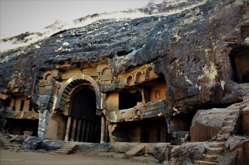 Bhaje caves near Visapur Fort