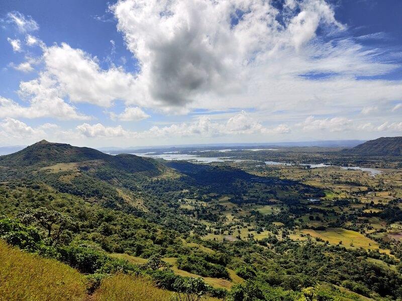 Breathtaking scenes as seen on Harihar fort trek