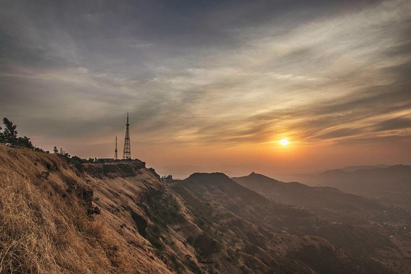 Breathtaking sunrise view after completing Katraj to Sinhgad Night Trek
