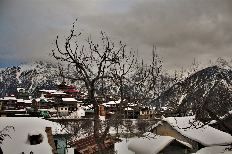 Breathtaking view at Kalpa in winters