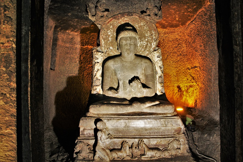 Buddha Statue at cave 17 Ajanta Caves Aurangabad