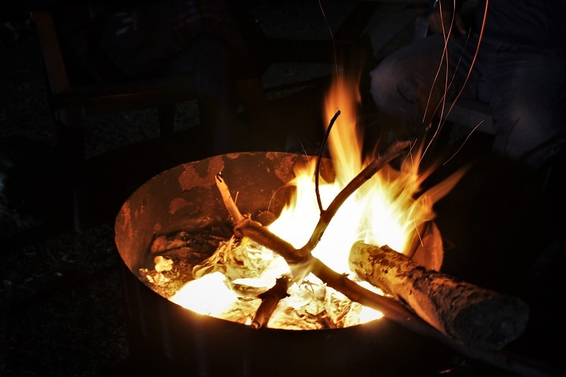 Campfire near Kumbhalgarh Fort Rajasthan