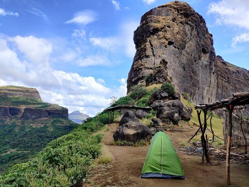 Camping at Harihar Fort Trek near Nashik