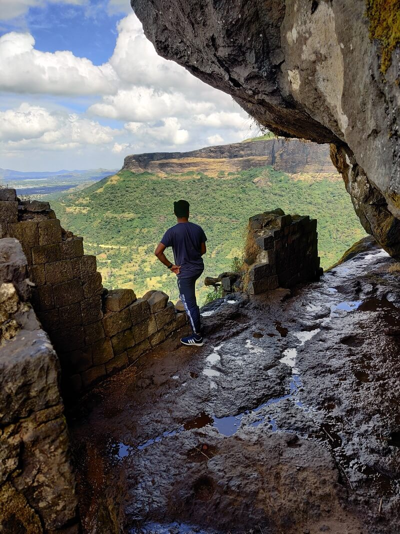Cave area at Harihar Fort