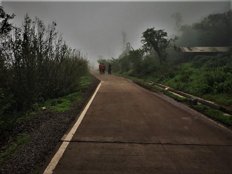 Cemented road at Purandar Fort