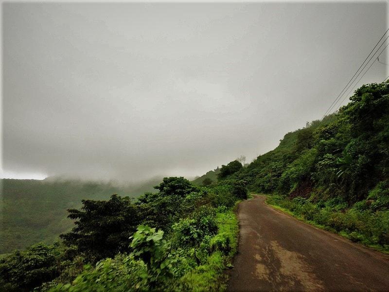 Curvy Road en route to Purandar Fort