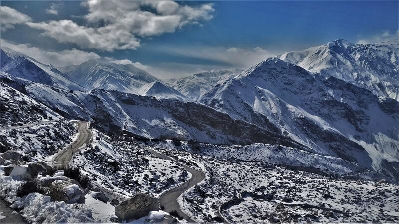 Curvy roads Spiti valley route
