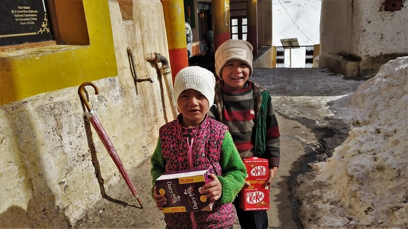 Cute Kids at Key monastery