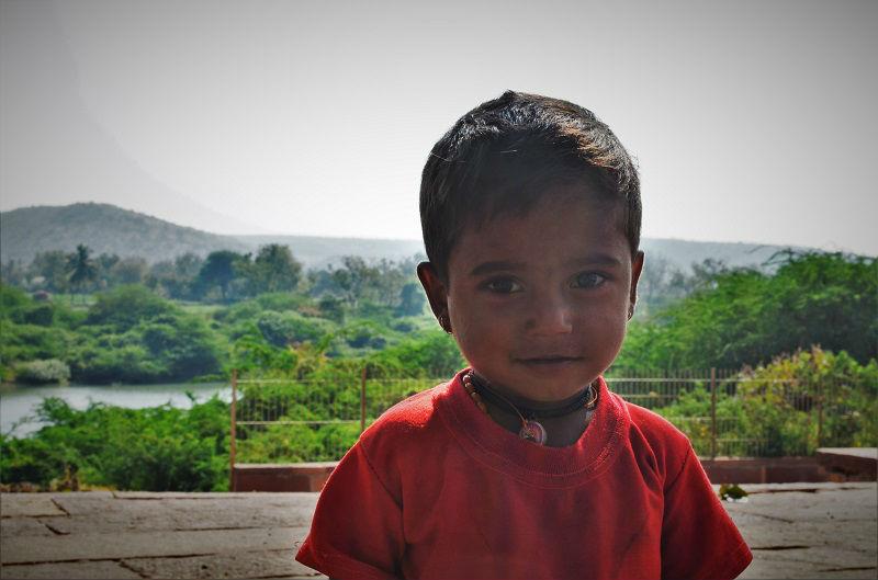 Cute kid at Badami caves Karnataka