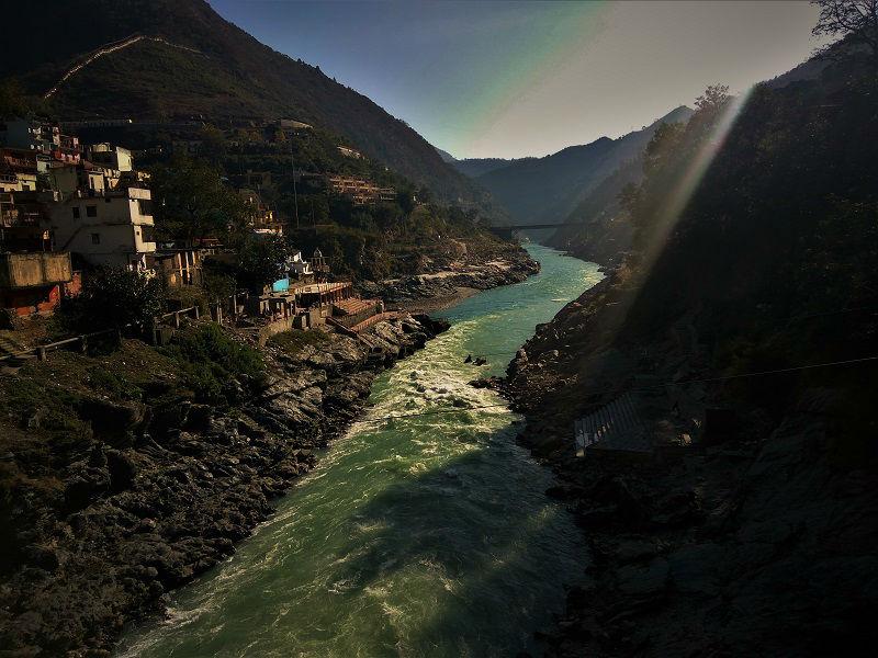 Devprayag town uttarakhand