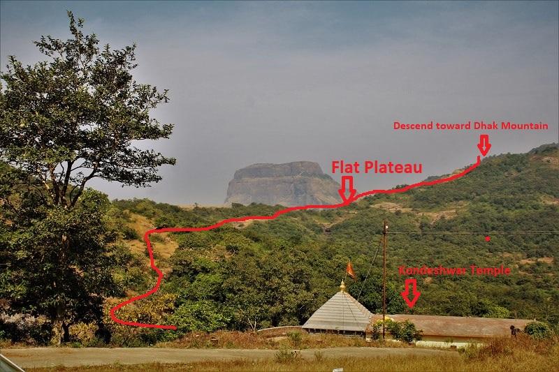 Dhak Fort as seen from Kondeshwar temple