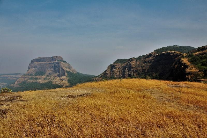 Dhak Fort as seen on Dhak Bahiri Cave trek