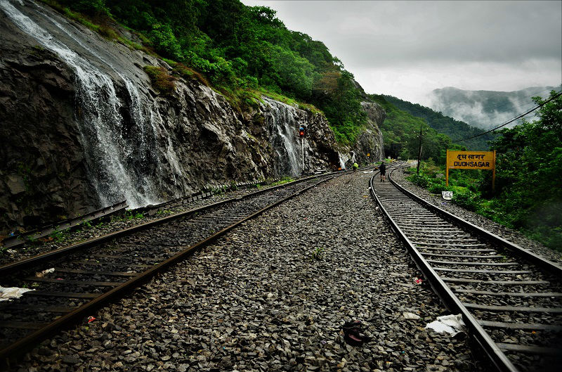 Dudhsagar railway station on Dudhsagar Waterfall Trek