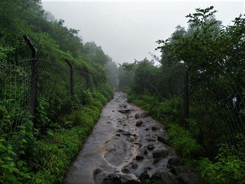 En-route to temple at Purandar Fort