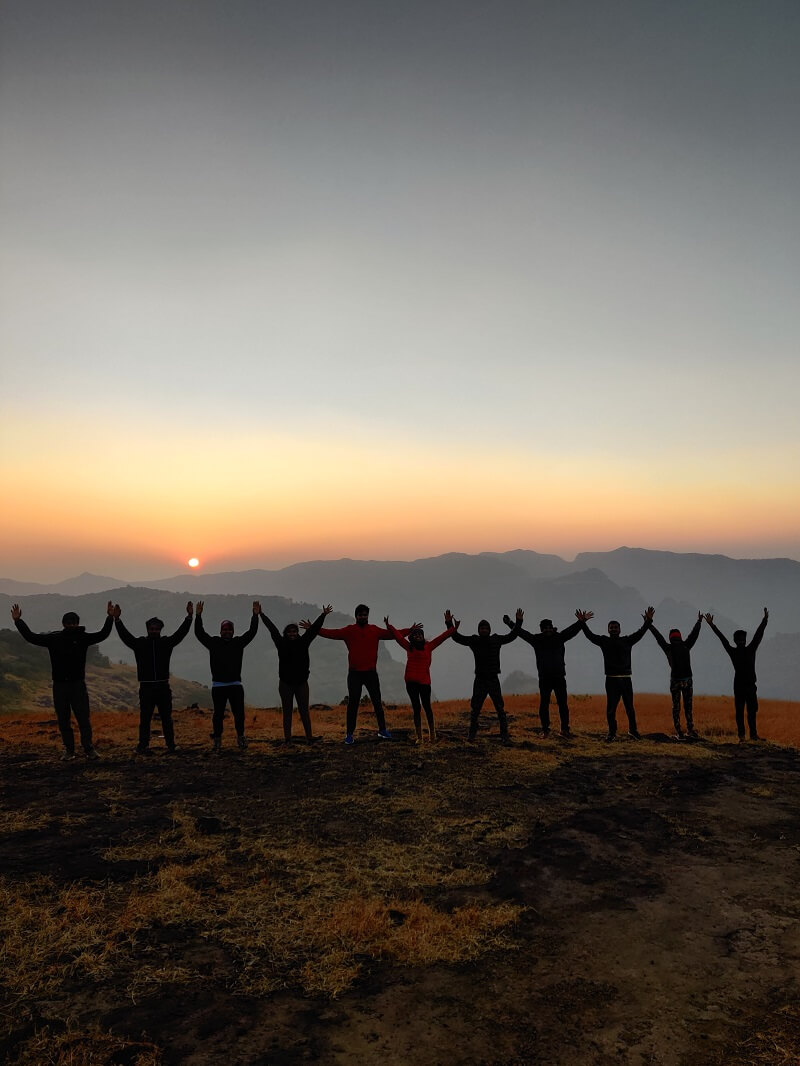 Enjoying the sunrise from Rai-Ling Plateau