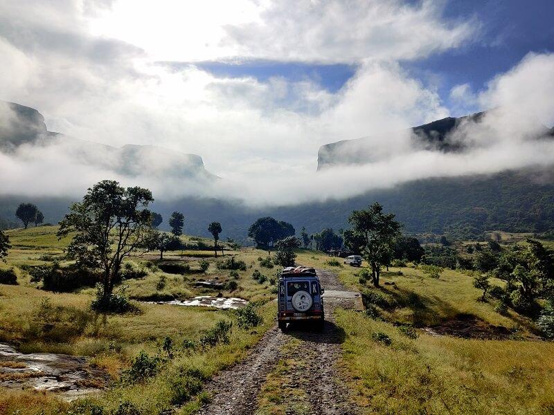 Enroute to Harshewadi(base village of Harihar Fort Trek)