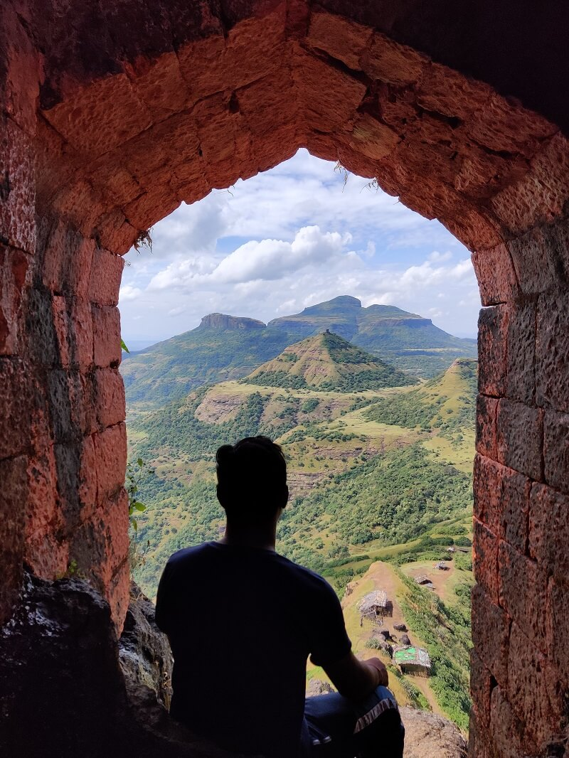 Entrance gate of Harihar Fort
