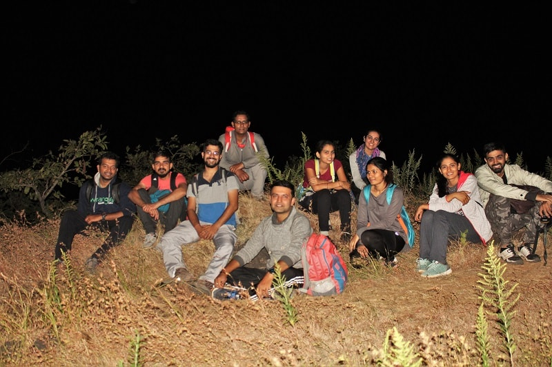 Fellow trekkers on Katraj to Sinhagad night trek