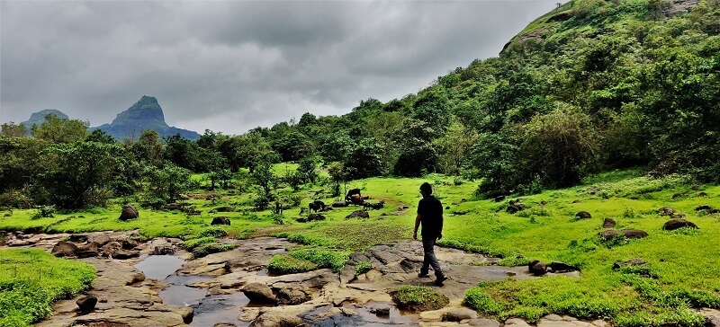 Flat Plateau at Kataldhar Waterfall trek