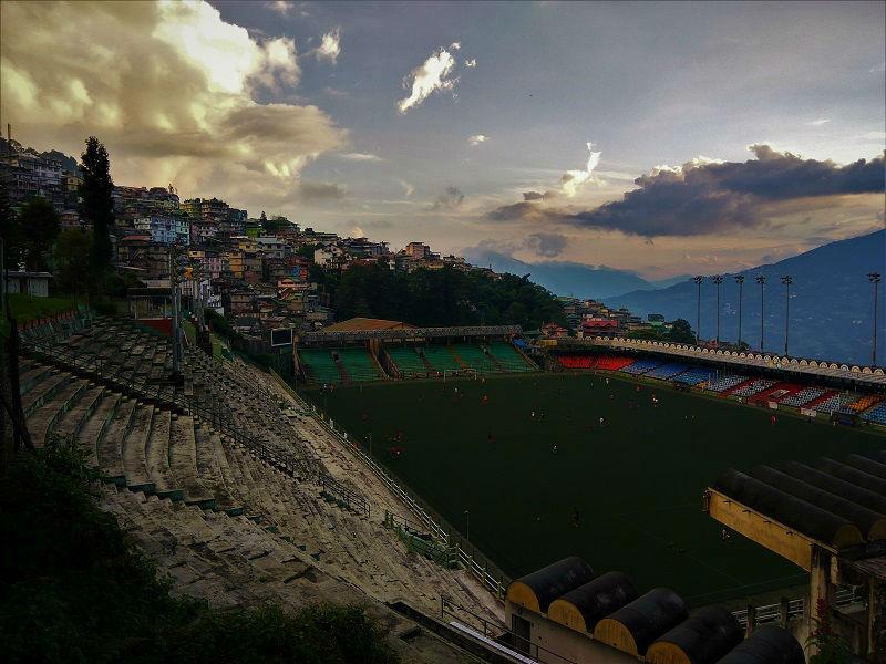 Football ground Gangtok Sikkim