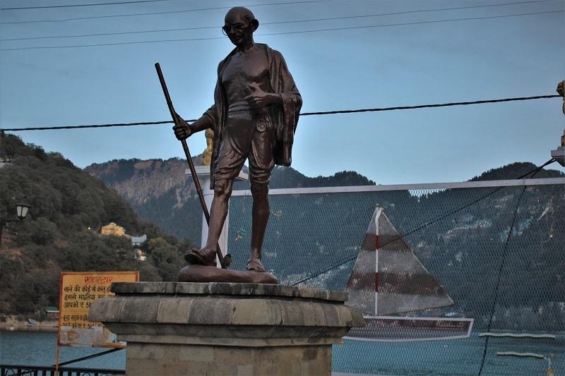 Gandhiji statue at Nainital Uttarakhand