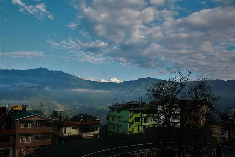 Landscape view Gangtok Sikkim