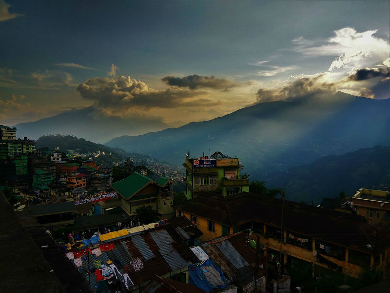 City view Gangtok Sikkim