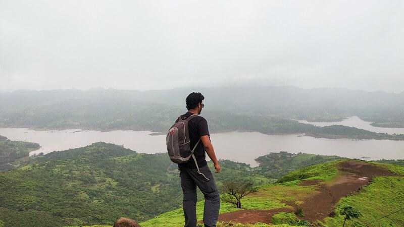 Gunjavane dam as seen on Torna Fort trek