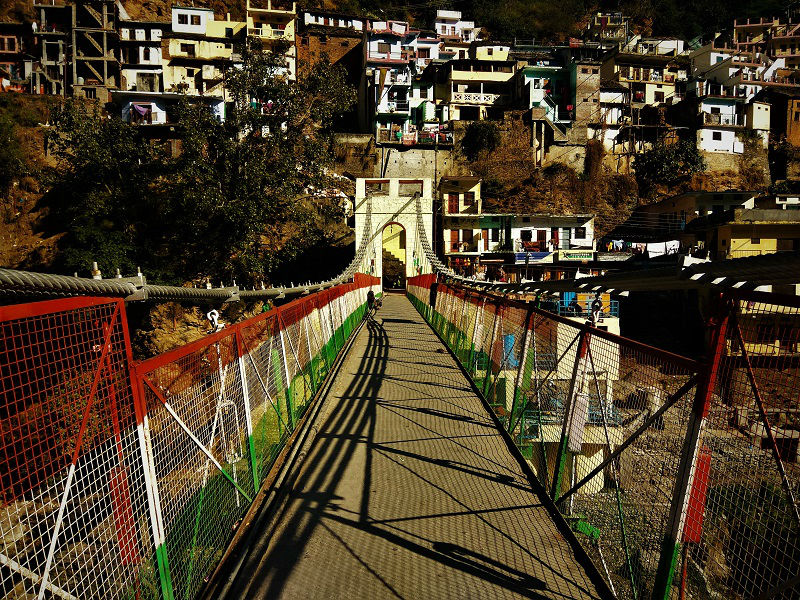 Hanging bridge Devprayag Uttarakahand