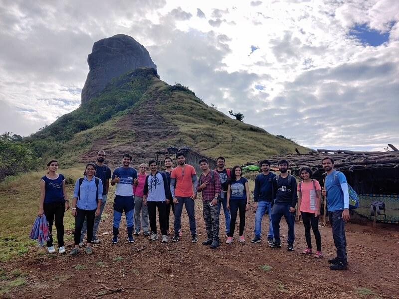 Harihar Fort trek organized by onacheaptrip from Pune