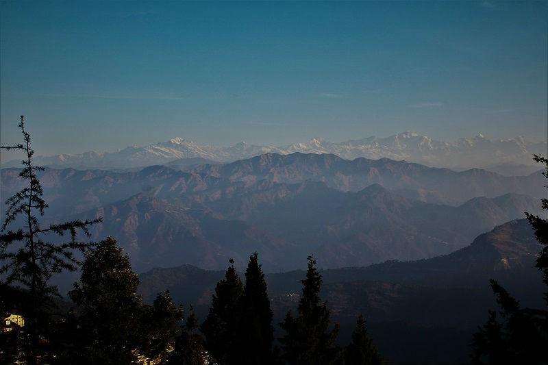 Himalaya view from Pauri Uttarakhand