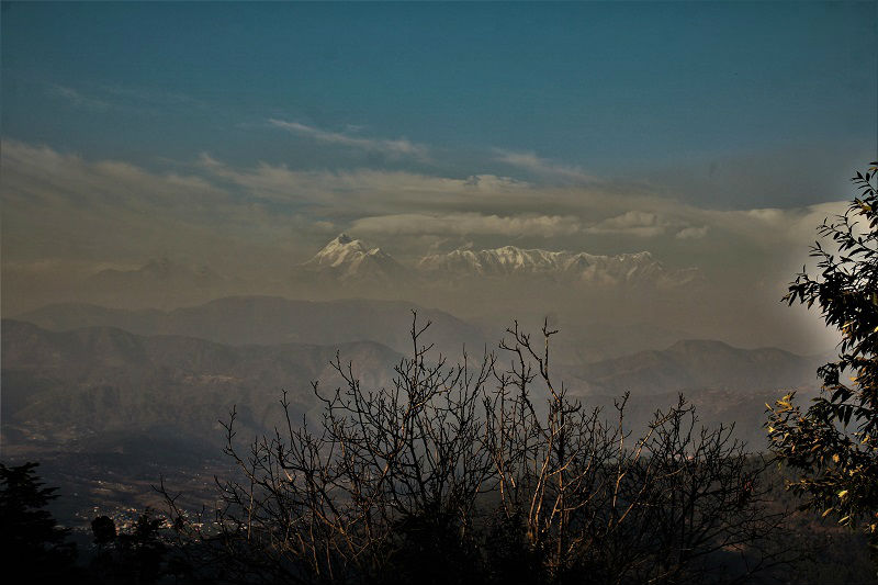 Himalayan range as seen from Kausani Uttarakhand