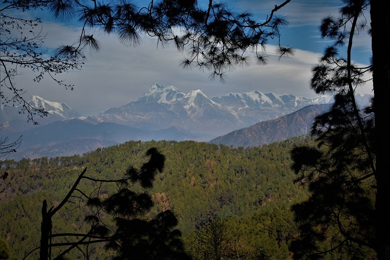 Himalayas as seen from Gwaldam Uttrakhand