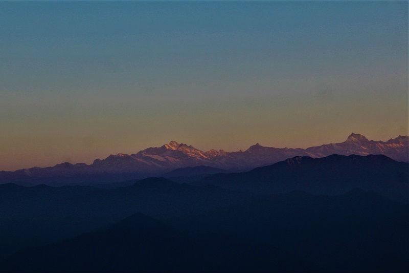 Himalayas from Pauri Uttarakhand