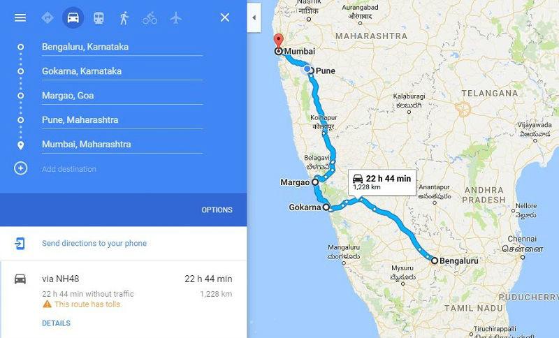 How to reach Gokarna from Mumbai Bangalore
