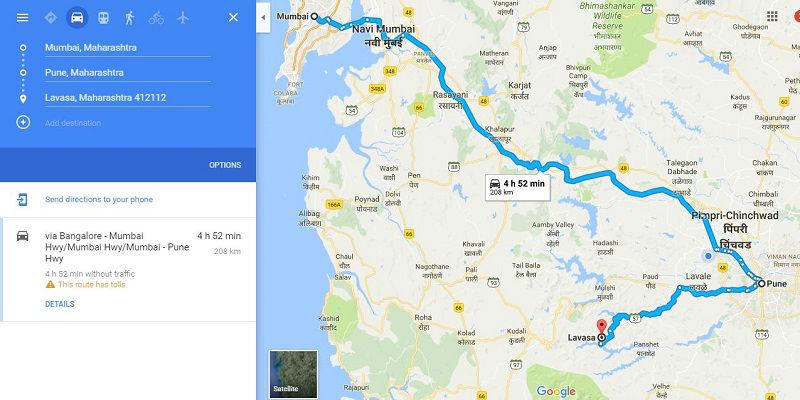 How to reach Lavasa from Mumbai Pune