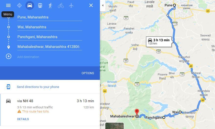 How to reach mahabaleshwar from Pune