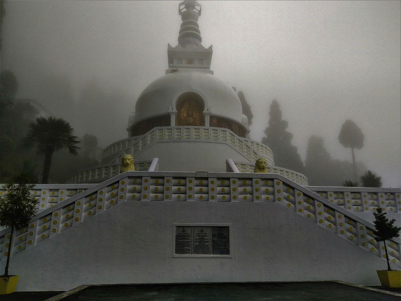 Japanese Peace Pagoda places to visit in Darjeeling