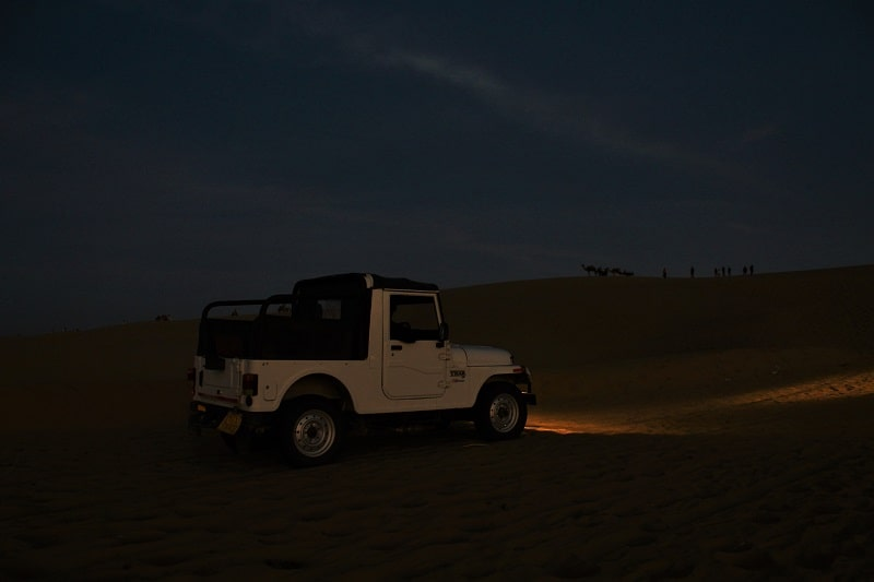 Jeep Safari at Sam Sand Dunes Jaisalmer
