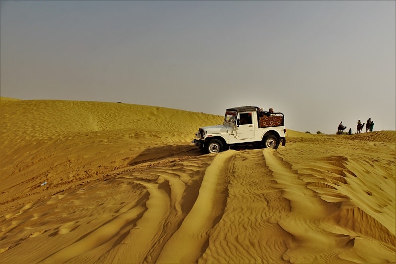 Jeep safari at Sam desert Jaisalmer