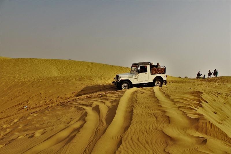 Jeep safari at Sam desert Jaisalmer