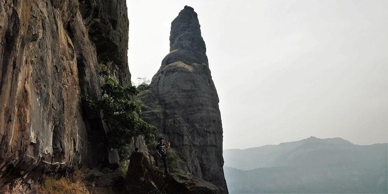 Kalakarai Pinnacle as seen on way to Dhak Bahiri Cave