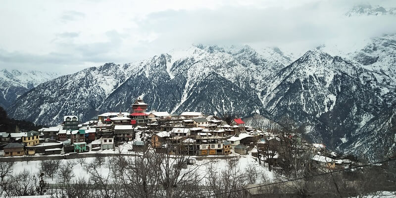 Kalpa town in winters is Heaven